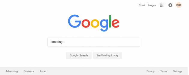 Google.com Homepage - Boooring!